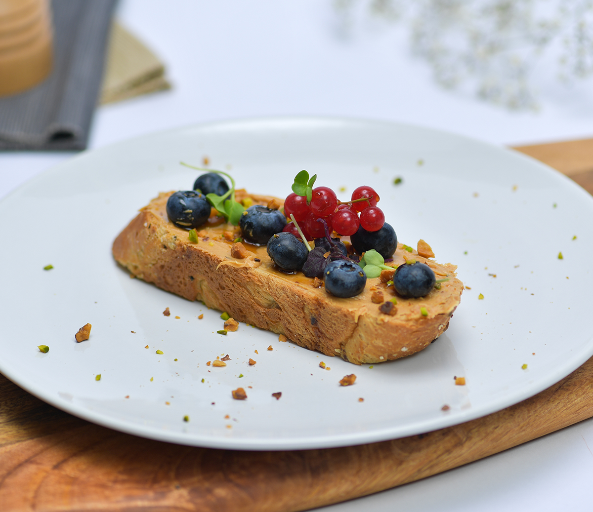 Blueberry Peanut Toast