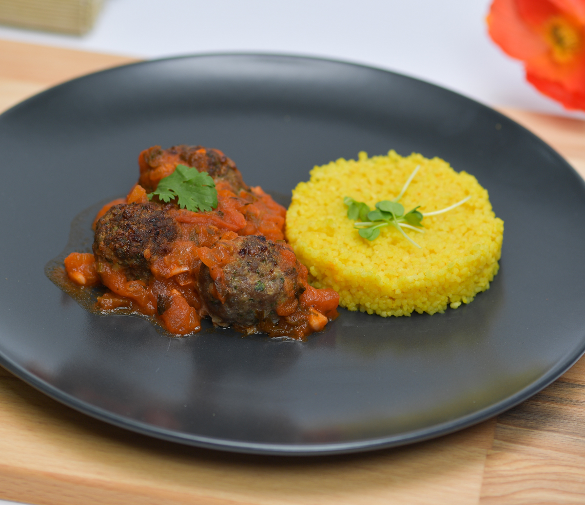 Cous Cous with Meatballs