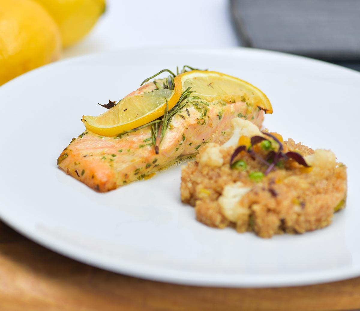 Salmon Mustard Quinoa