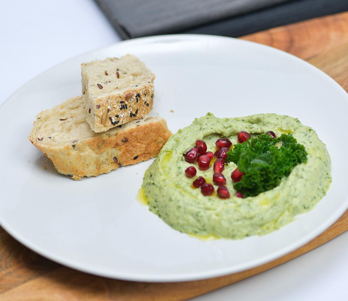 Kale Hummus Breakfast