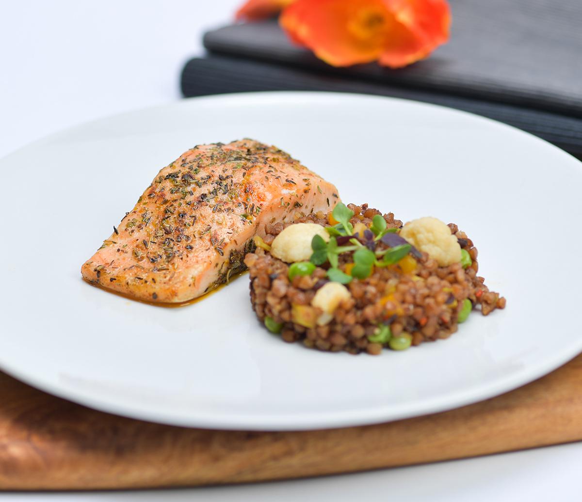 Salmon Buckwheat