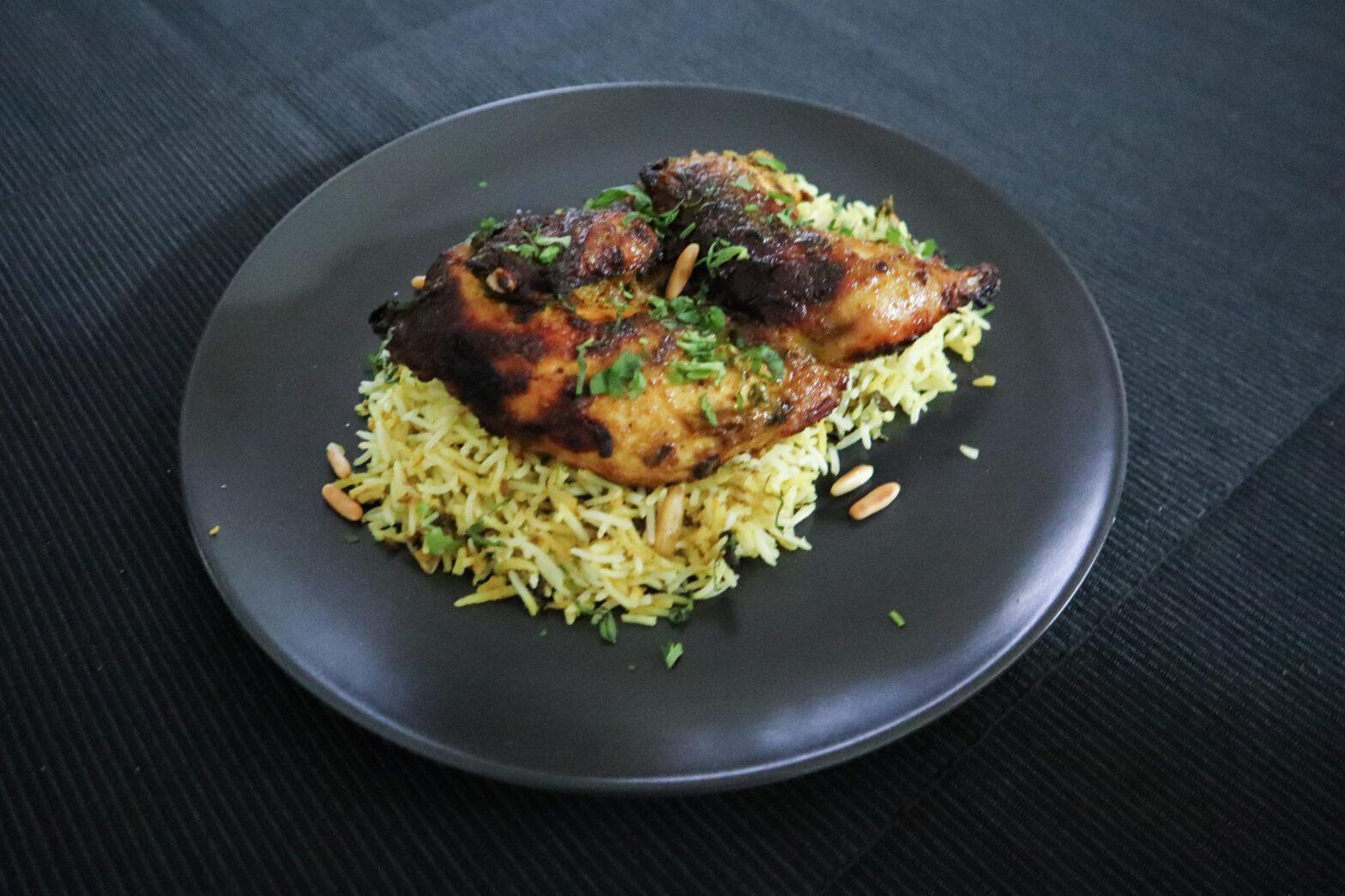 Chicken BBQ Saffron Rice