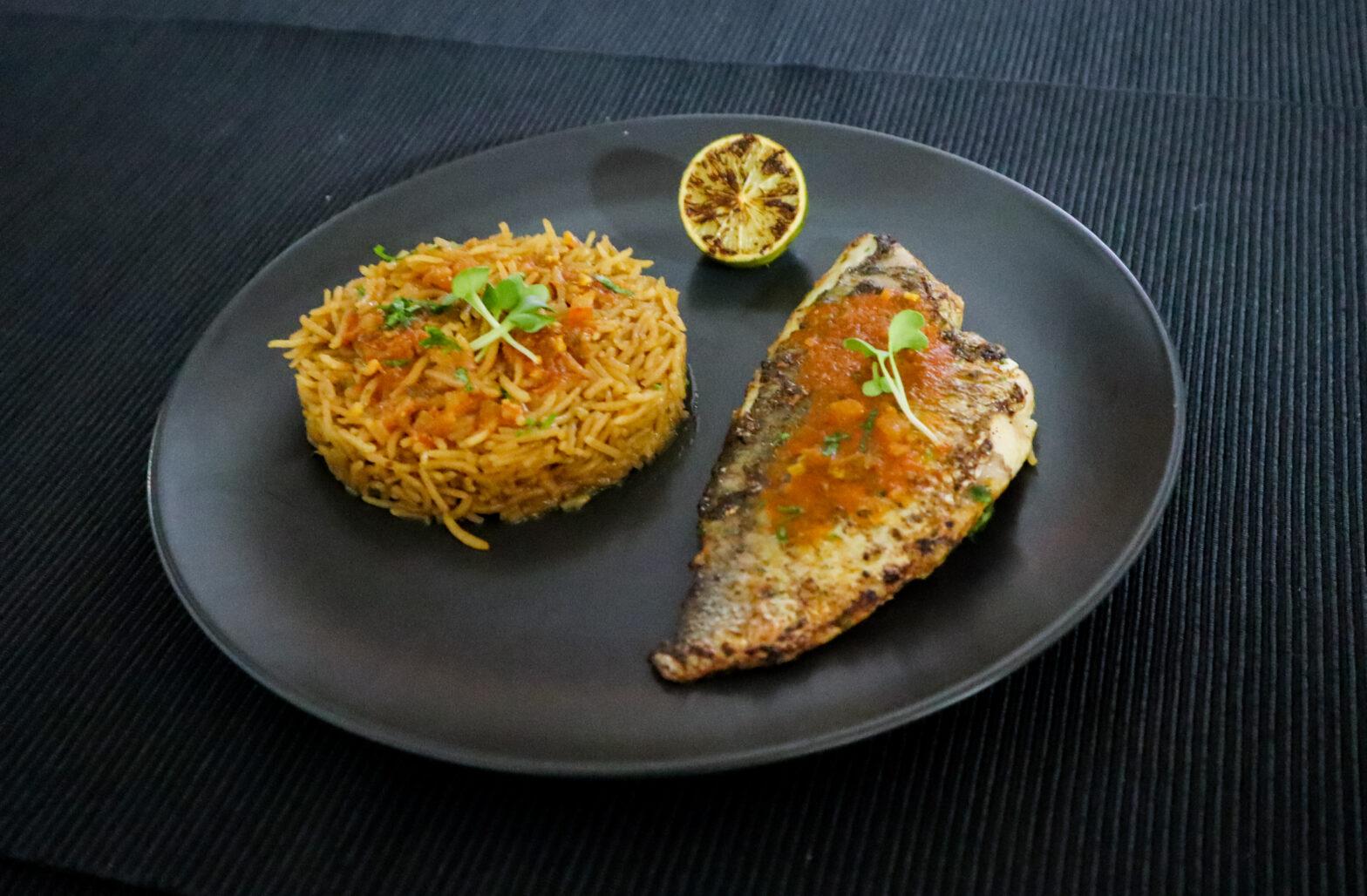 Dates Rice with Seabream Salona