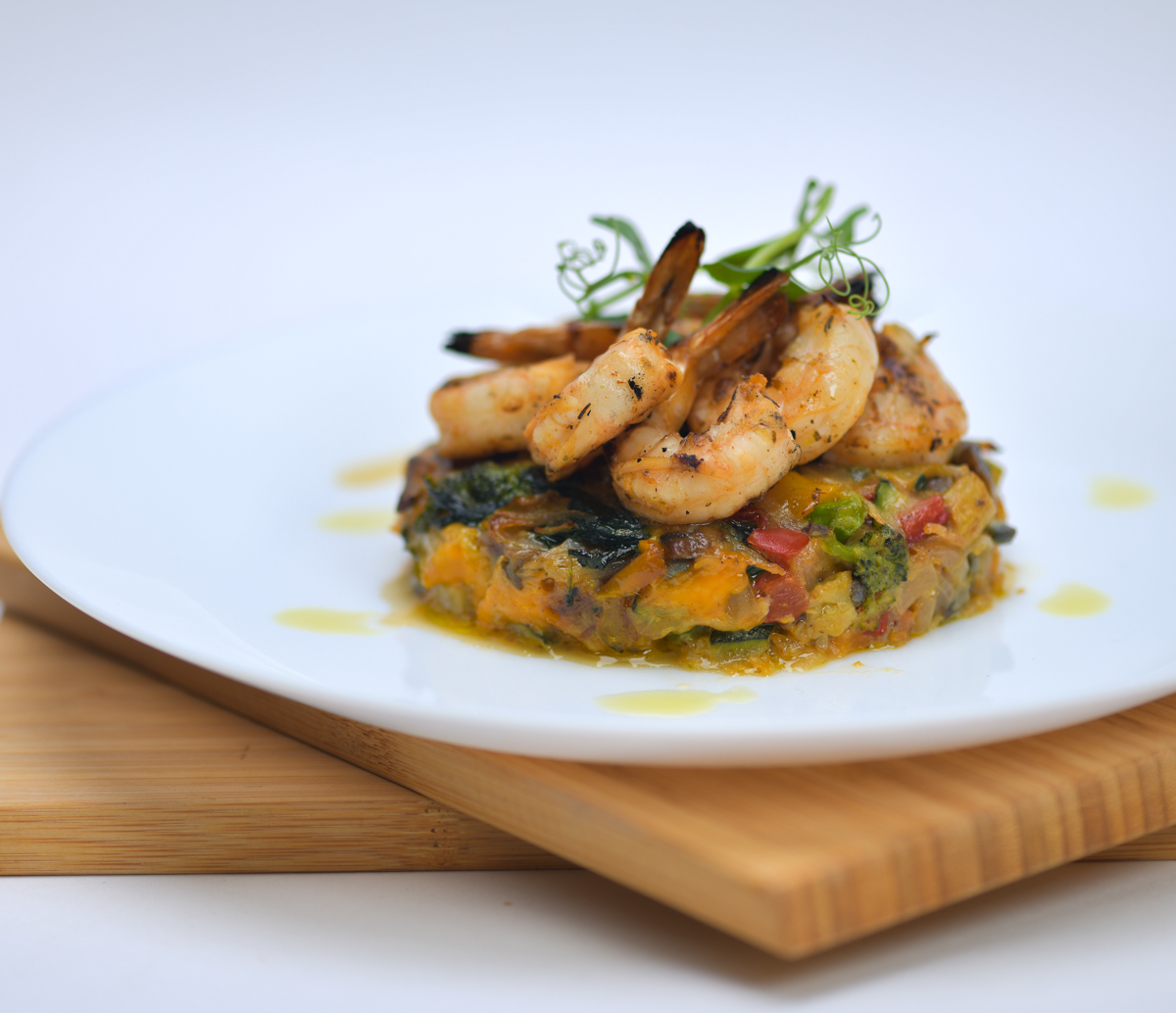 Grilled Prawn with Roasted Veggies