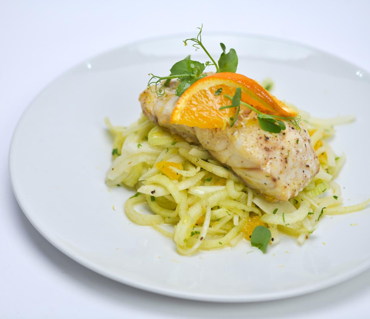 Hamour orange with Salad