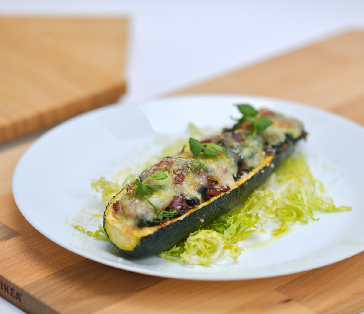 Zucchini Boat with Bacon